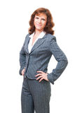 Positive confident bussiness woman. In her thirties, look at camera,isolated Stock Photos