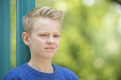 Positive confident teenager boy outdoor Royalty Free Stock Photography