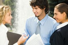 Positive conversation Stock Images
