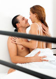 Positive couple  having sex Stock Photography