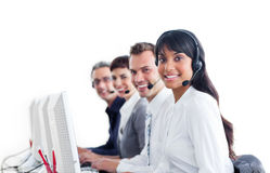 Positive customer service representatives stock photography
