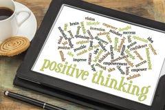 Positive denkende Wortwolke Lizenzfreies Stockbild