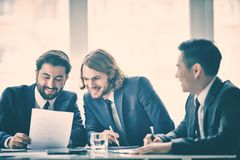 Positive discussion Royalty Free Stock Photo