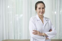 Positive doctor royalty free stock photos