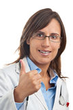 Positive Doctor Thumbs up Royalty Free Stock Images