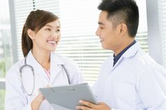 Positive doctors Royalty Free Stock Images