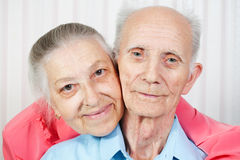 Positive elderly couple happy Stock Photography