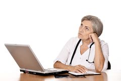 Positive elderly doctor Royalty Free Stock Image