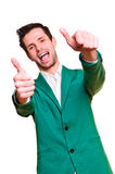 Positive emotional young man Royalty Free Stock Photography