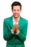 Positive emotional young man Royalty Free Stock Photos