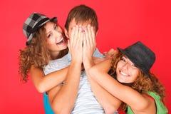 Positive emotions stock photos