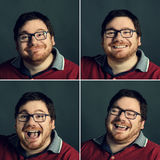 Positive emotions. Portrait of a man with positive emotions Royalty Free Stock Images