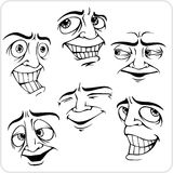 Positive emotions - vector set. Stock Photo