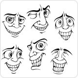 Positive emotions - vector set. Royalty Free Stock Photography