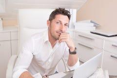 Positive employee Royalty Free Stock Photography