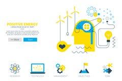 Positive energy concept Stock Photos