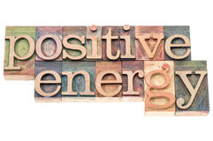 Positive energy in wood type Stock Photography