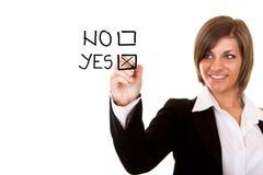 Positive Entscheidung Lizenzfreie Stockfotos