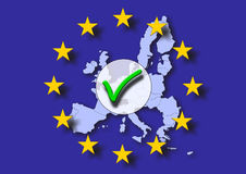 Positive europe voting. Positive voting for europe union EU Royalty Free Stock Images