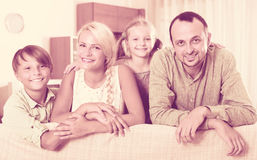 Positive family with two kids Royalty Free Stock Images