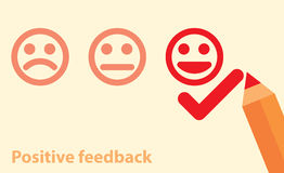 Positive feedback concept royalty free illustration