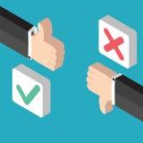 Positive feedback and negative feedback Stock Photos