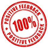 Positive feedback red vector stamp. Isolated on white background Royalty Free Stock Image