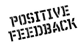 Positive Feedback rubber stamp Stock Images