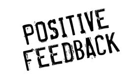 Positive Feedback rubber stamp Stock Image