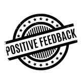 Positive Feedback rubber stamp Stock Photo