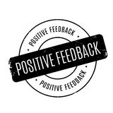 Positive Feedback rubber stamp Royalty Free Stock Images