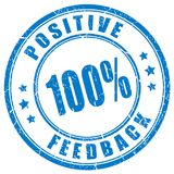 Positive feedback trusted rubber stamp. Positive feedback trusted rubber vector stamp Royalty Free Stock Photography