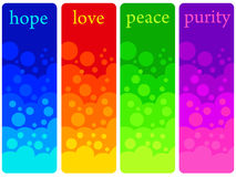 Positive feelings. Colorful and positive feelings like hope, love, peace and purity Royalty Free Stock Photo