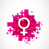 Positive female gender symbol Royalty Free Stock Images