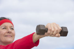 Positive fit healthy mature woman Royalty Free Stock Images