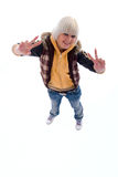 Positive Fun Blonde Girl. Stock Photography