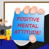 Positive Geisteshaltung bedeutet Illustration des Optimismus-3d vektor abbildung