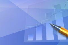 Positive Geschäftstendenz. Stockfoto
