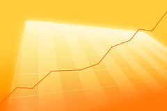 Positive Geschäftstendenz. Lizenzfreies Stockfoto