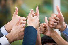 Positive gesture Royalty Free Stock Image