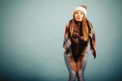 Positive girl in autumn season clothing Royalty Free Stock Photography