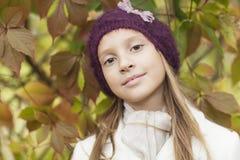 Positive girl with big eyes Stock Photography