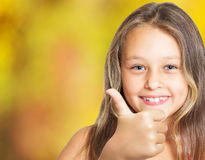 Positive girl Royalty Free Stock Image