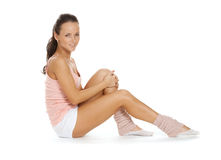 Positive girl in sport training Stock Photo