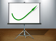 Positive graph Royalty Free Stock Image