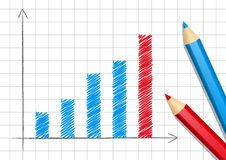 Positive graph. For Your design Royalty Free Stock Photo