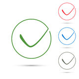 Positive green checkmark symbol template Stock Photography