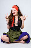 Positive gypsy girl Royalty Free Stock Images