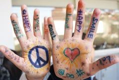 Positive Hände lizenzfreies stockfoto