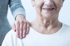 Positive Haltung während der Therapie Lizenzfreies Stockbild